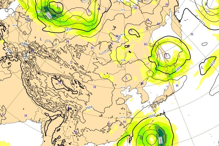 台風17号(ターファー)ヨーロッパ進路予想(現在)